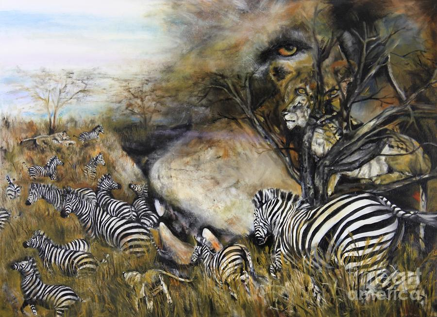 Wildlife Painting - Survival by Laneea Tolley