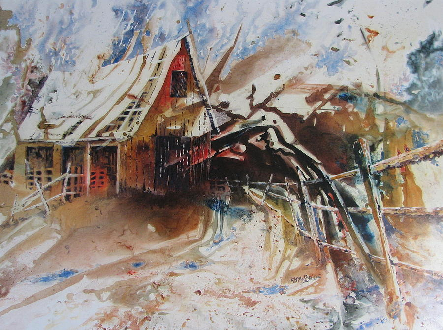 Barn Painting - Surviving A Storm by Ken McBride