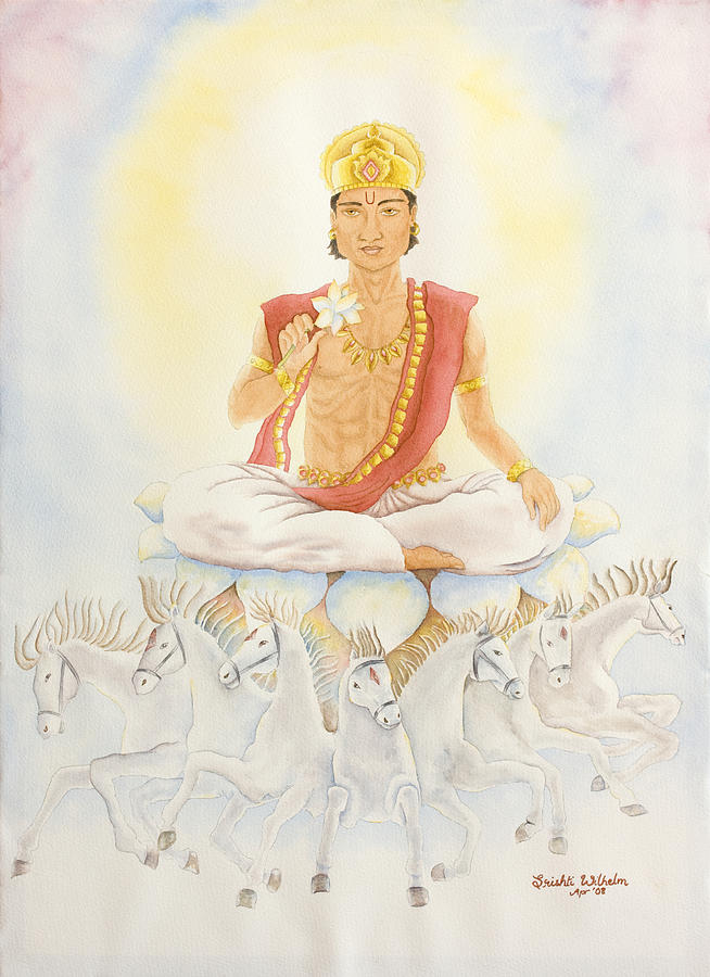 Vedic Astrology Painting - Surya The Sun by Srishti Wilhelm