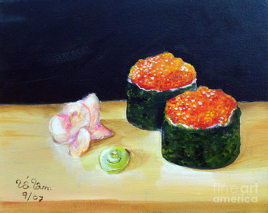 Sushi Painting - Sushi 6 by To-Tam Gerwe