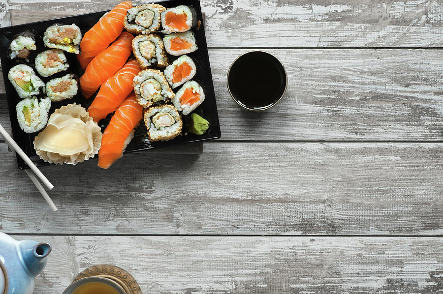 Sushi Photograph by A.y. Photography