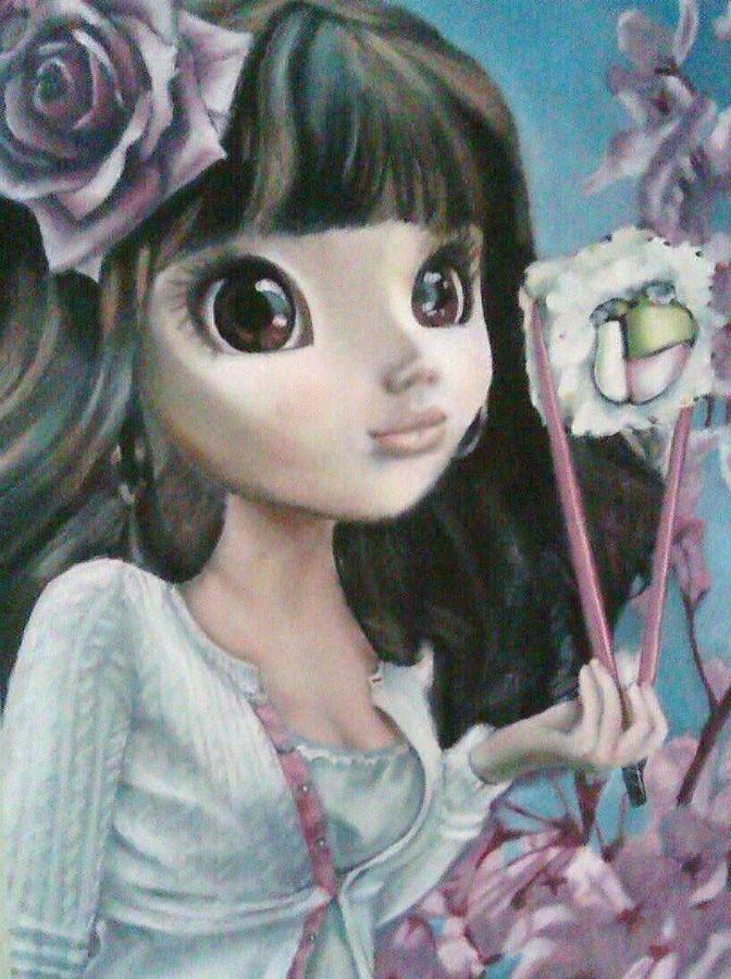 Sushi Painting - Sushi Girl by Lori Keilwitz