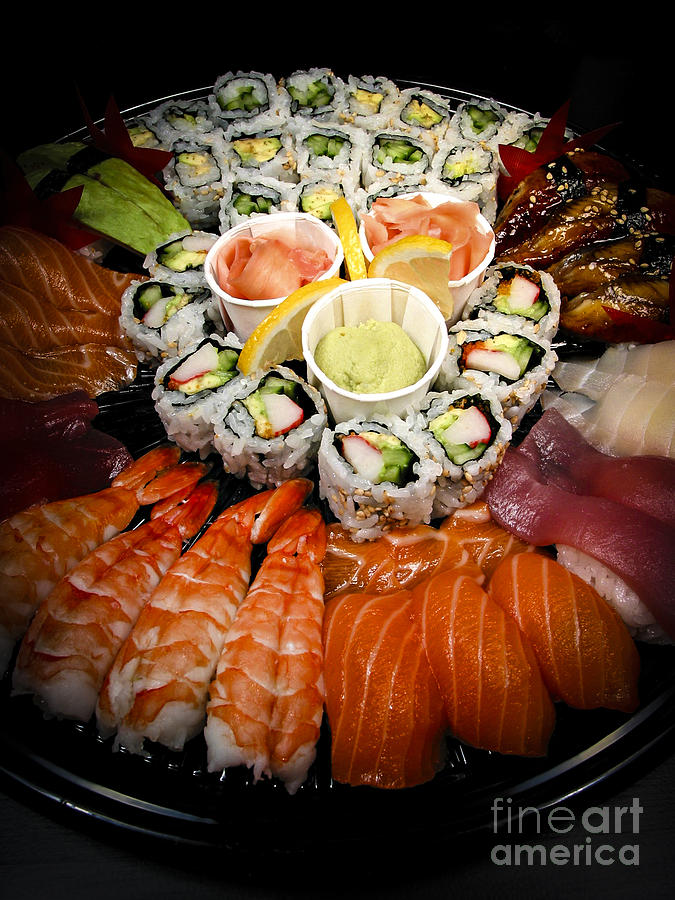 Food Photograph - Sushi Tray by Elena Elisseeva
