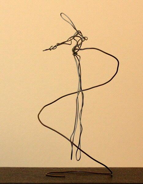 Man Sculpture - Suspended Man by Mel Drucker