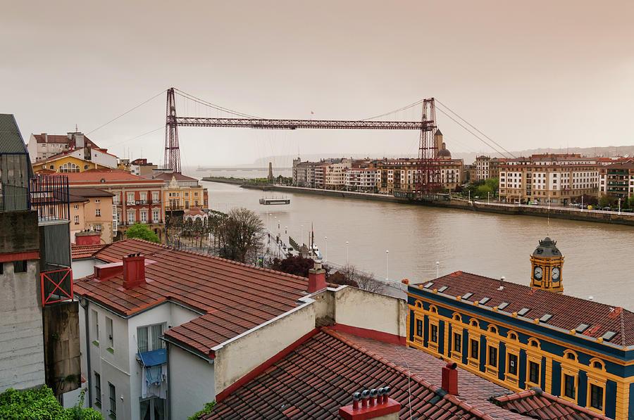 Suspension Bridge In Portugalete Photograph by By Juan Ignacio Llana