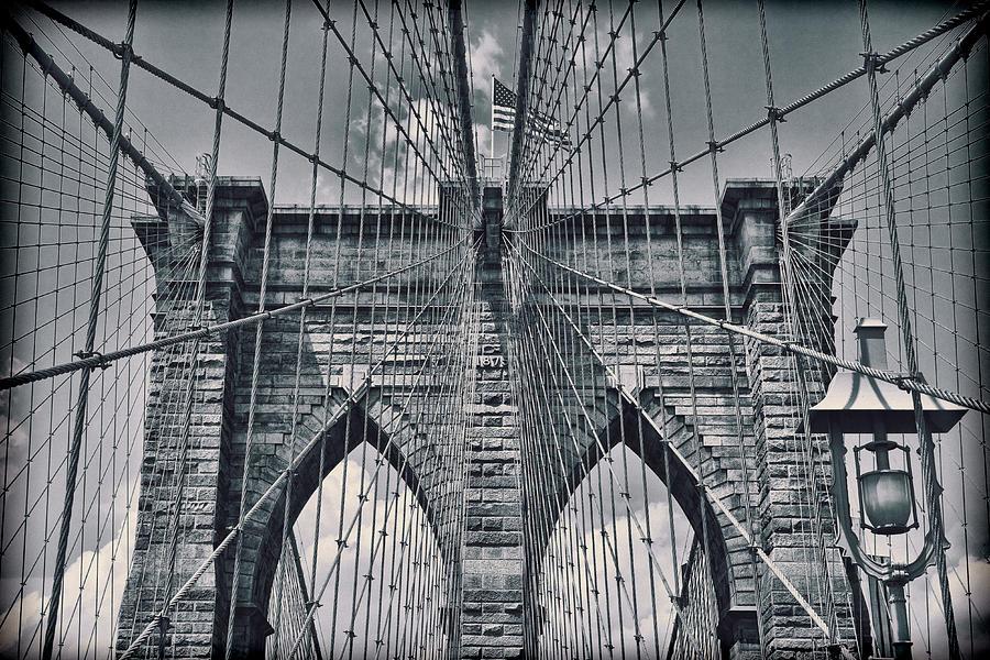 Suspension Bridge Photograph - Suspension by Kelley King