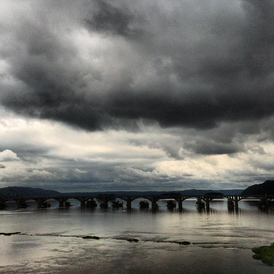 Susquehanna River Bridge Photograph - Susquehanna River Bridge by Toni Martsoukos