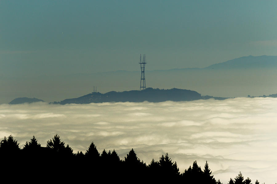 Nature Photograph - San Franciscos Sutro Tower Across The Sea Of Fog by G Matthew Laughton
