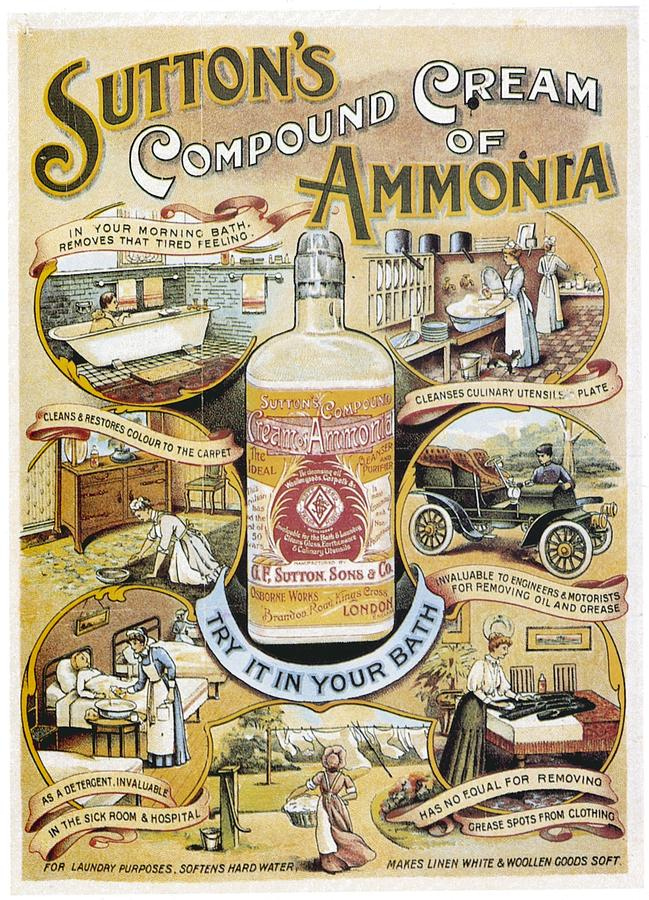 Sutton's Compound Cream of Ammonia Vintage Ad by Gianfranco Weiss