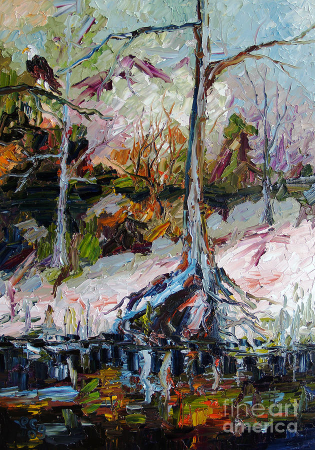 Suwanee River Black Water Painting by Ginette Callaway