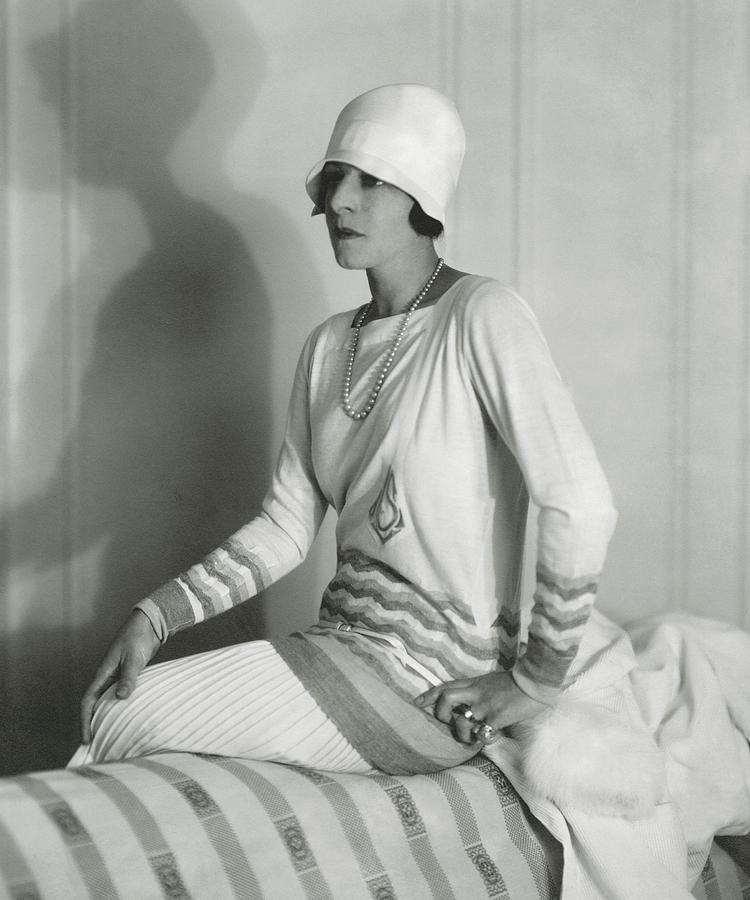 Suzanne Lenglen Wearing Jean Patou Sportswear Photograph by Edward Steichen