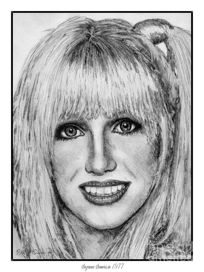 Suzanne Somers Drawing - Suzanne Somers In 1977 by J McCombie