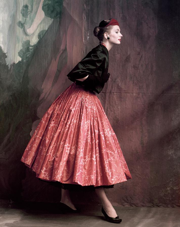 Accessories Photograph - Suzy Parker In A Givenchy Skirt by John Rawlings