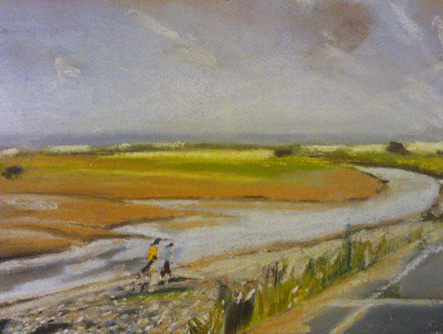 Brook Pastel - Swalecliffe Brook by Paul Mitchell