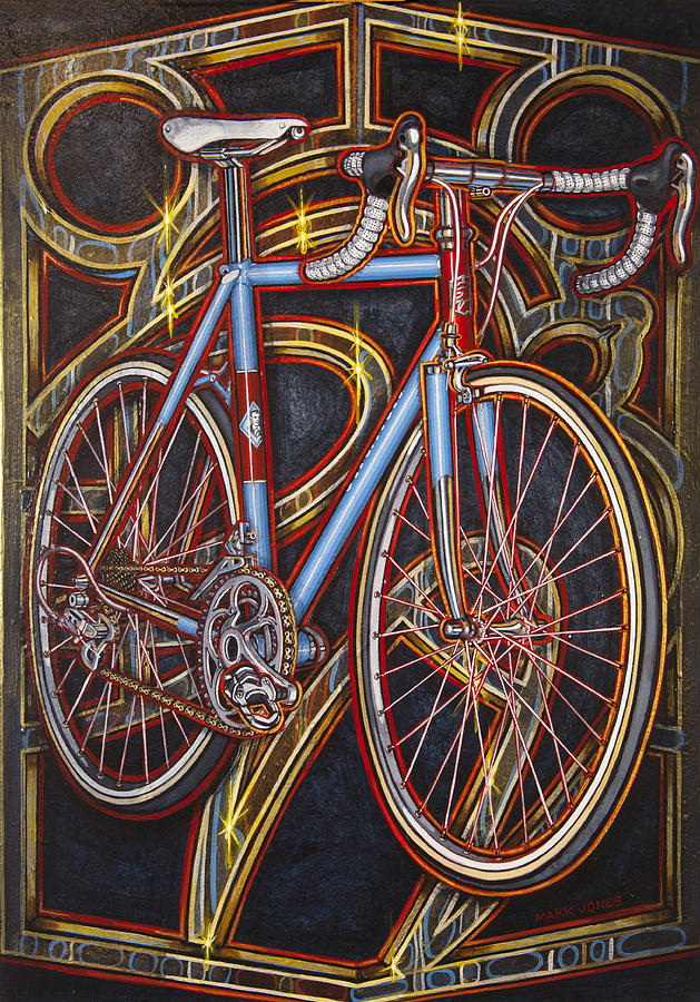 Swallow Painting - Swallow Bespoke Bicycle by Mark Jones