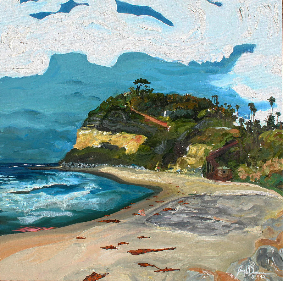 Swami Painting - Swamis Beach by Joseph Demaree