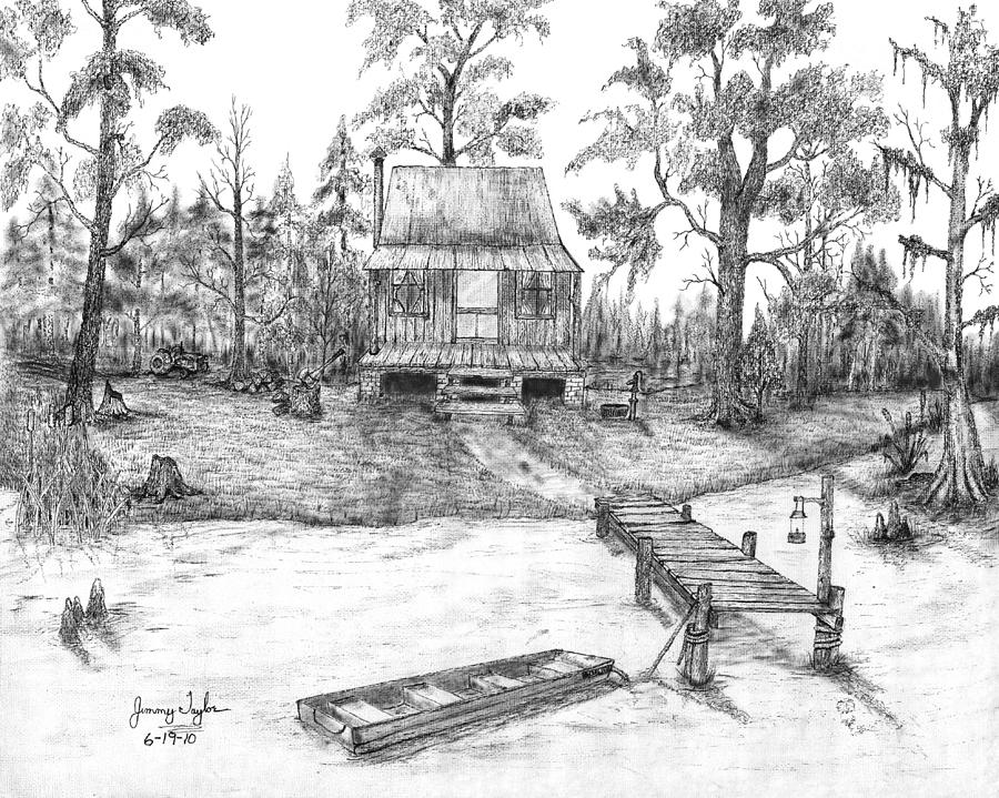 Swamp Camp Drawing By Jimmy Taylor