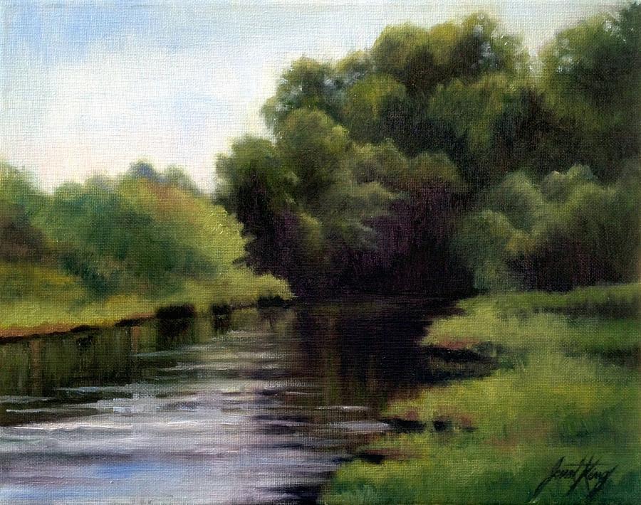 Beautiful Scenery Painting - Swan Creek by Janet King