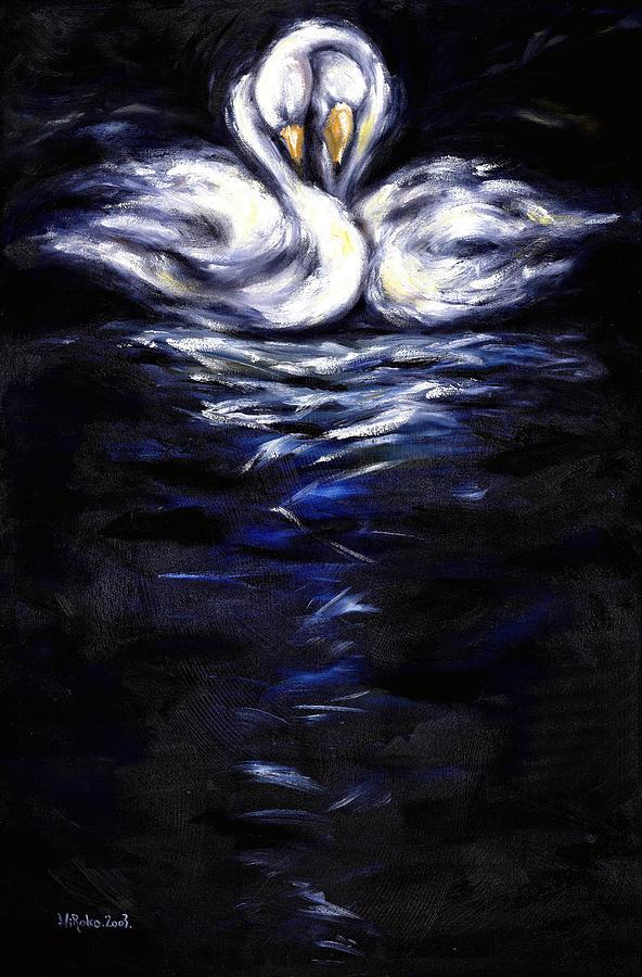 Bird Painting - Swan by Hiroko Sakai