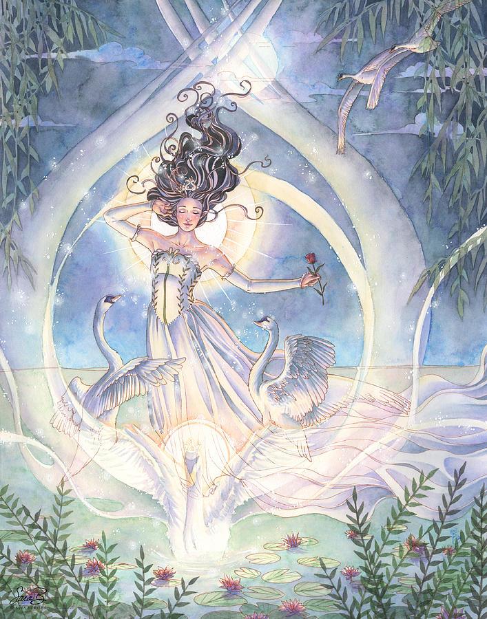Princess Painting - Swan Lake by Sara Burrier