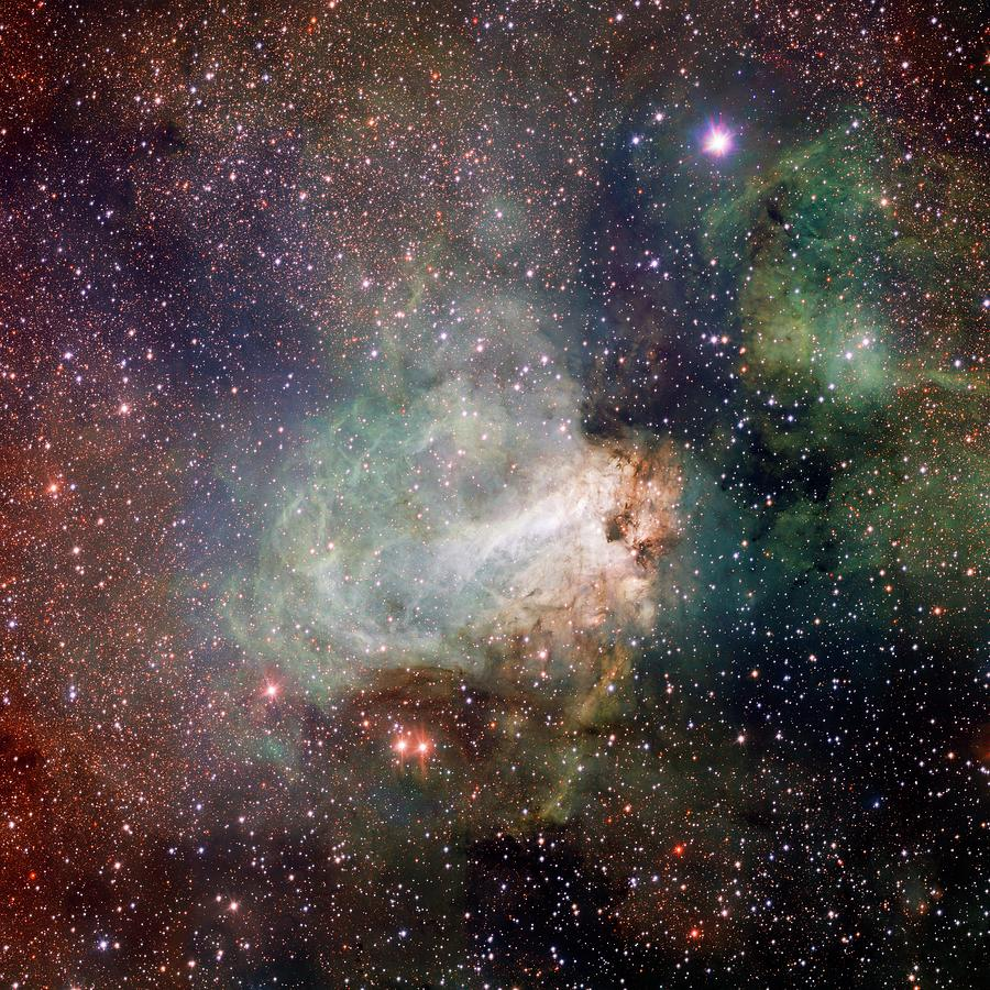 M17 Photograph - Swan Nebula (m17) by Inaf-vst/omegacam/european Southern Observatory/science Photo Library