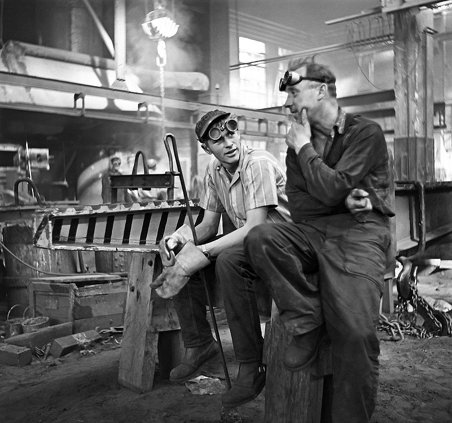 Sweden Photograph - Swedish Foundry Workers by David Murphy