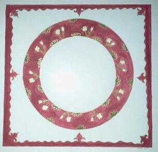 Red Painting - Swedish Plate Design by Karen Jensen