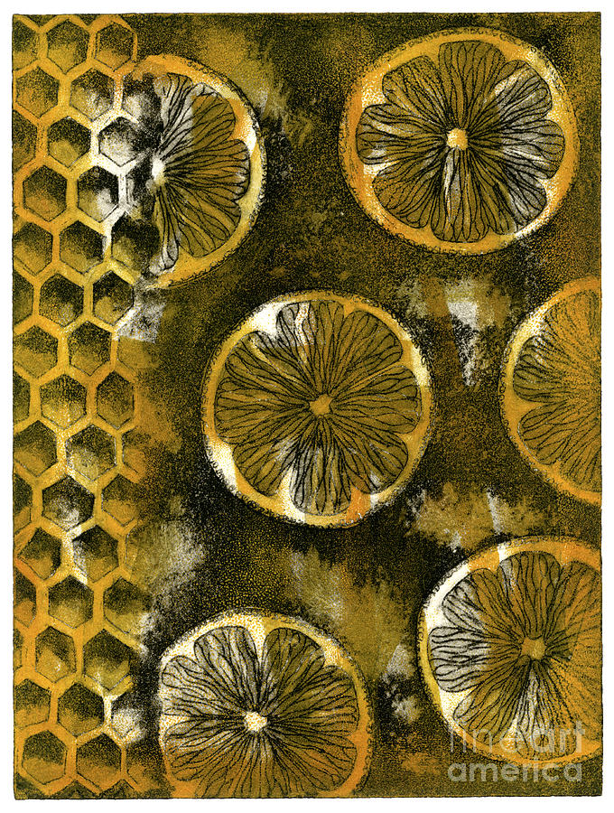 Sweet-and-sour - Sweet-sour - Flavor - Opposition - Honey - Honeycomb - Citron - Bees Nest Painting