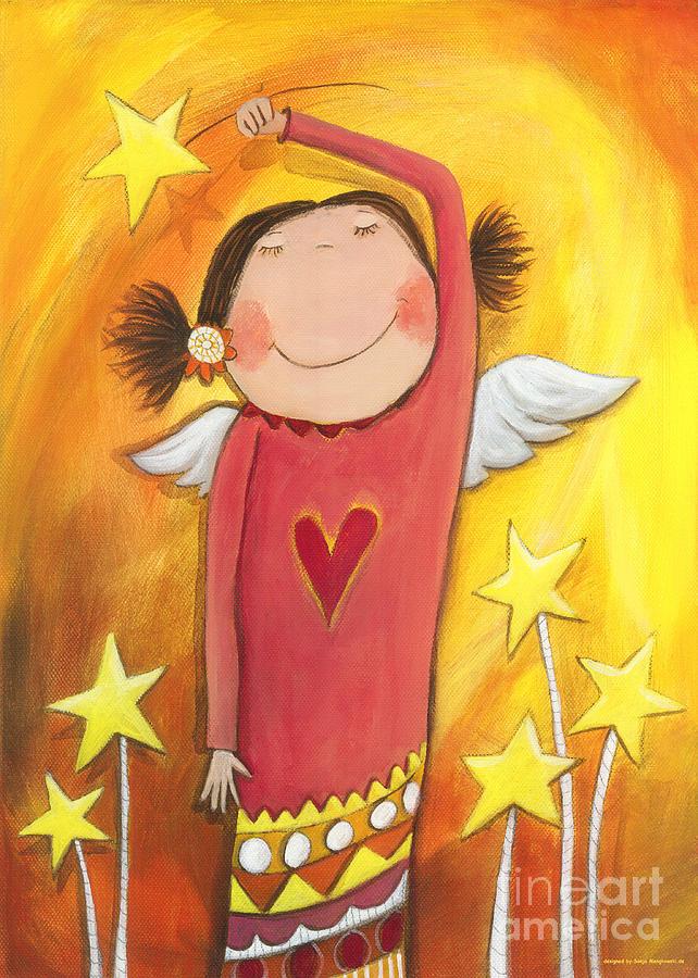 Fascination Painting - Sweet Angel by Sonja Mengkowski