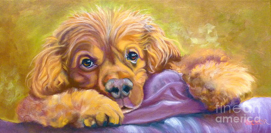 Dog Painting - Sweet Boy Rescued by Susan A Becker