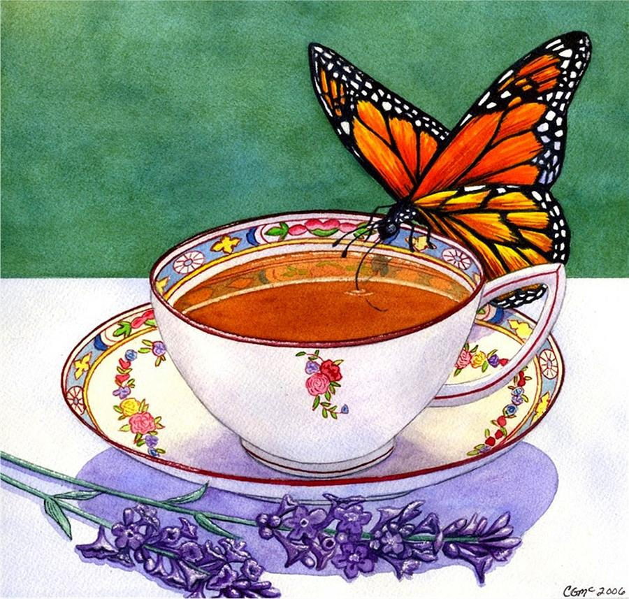Butterfly Painting - Sweet by Catherine G McElroy