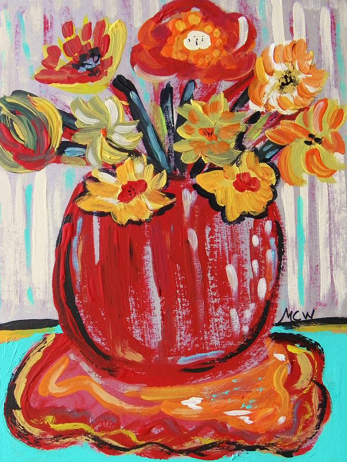 Acrylic Painting - Sweet Collection by Mary Carol Williams