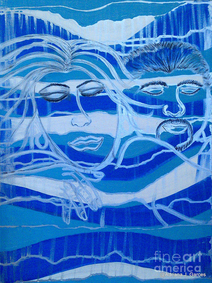 Figurative Abstract Painting - Sweet Dreams by Adriana Garces