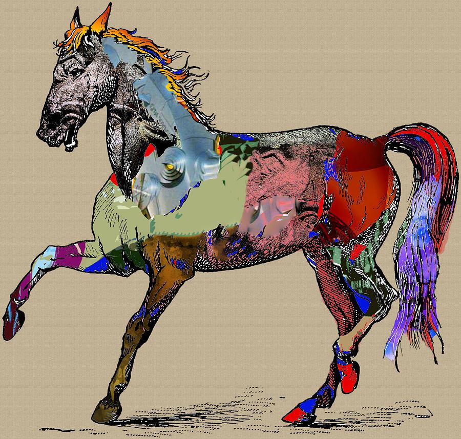 Horse Digital Art - Sweet Horse by Francis Erevan