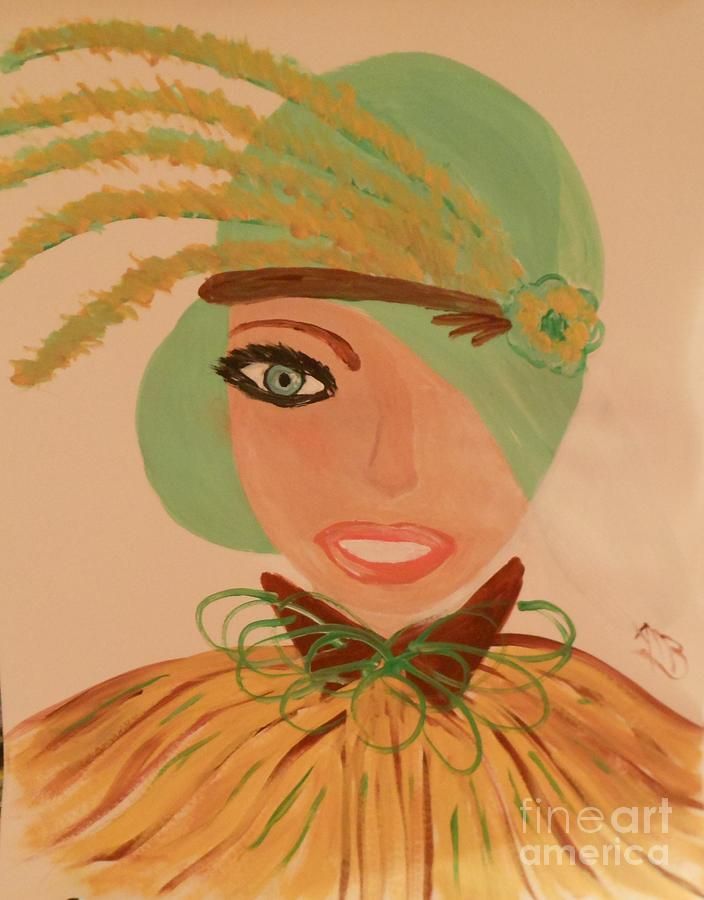 Art Deco Painting - Sweet Mary Of The Sun by Marie Bulger