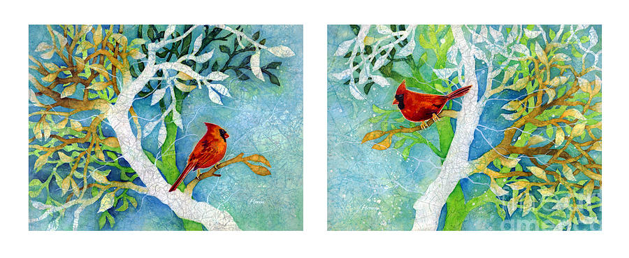 Sweet Memories Diptych Painting