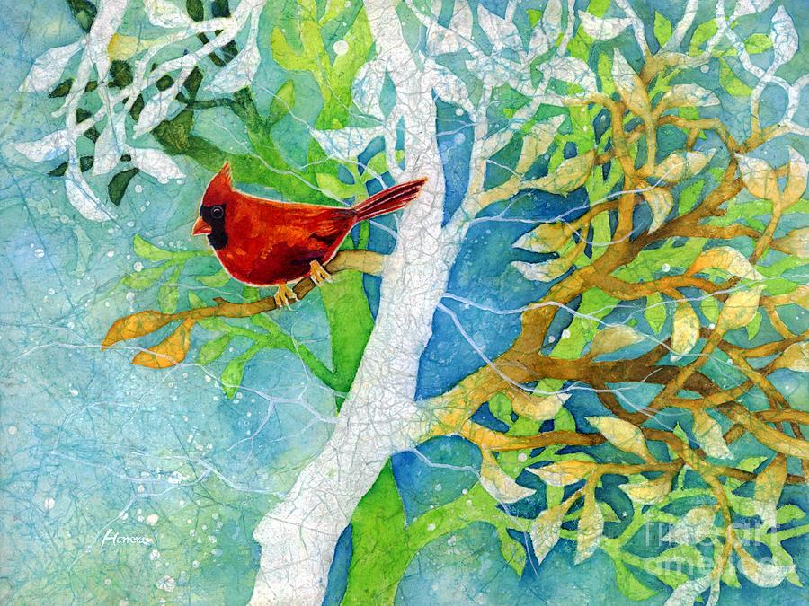 Cardinal Painting - Sweet Memories II by Hailey E Herrera