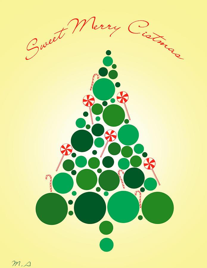 Merry Christmas Digital Art - Sweet Merry Christmas by Mark Ashkenazi