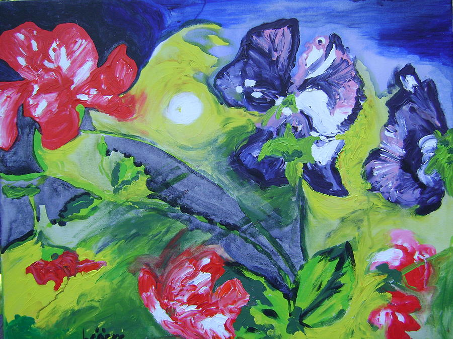 Sweet Peas Painting - Sweet Peas by Therese Legere
