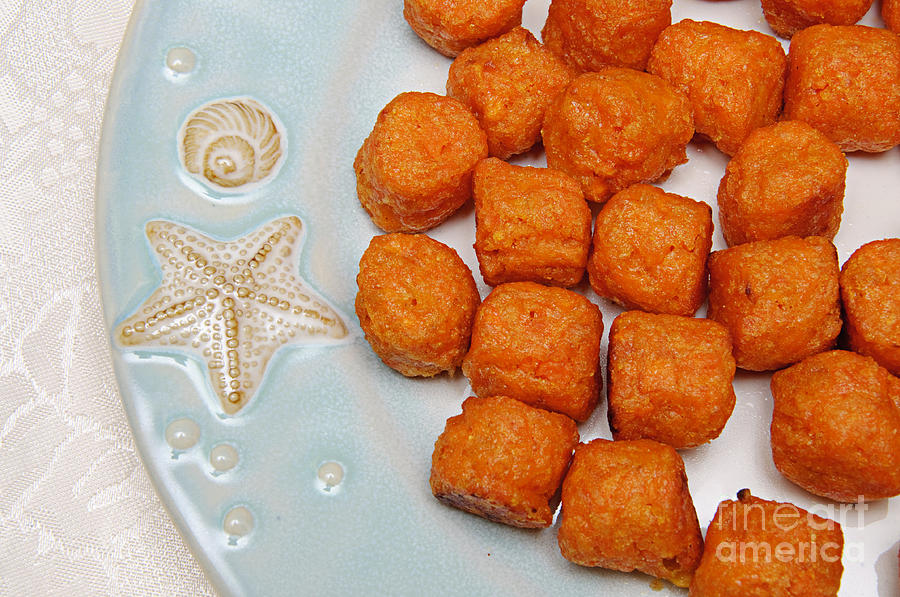 Food Photograph - Sweet Potato Puffs by Andee Design