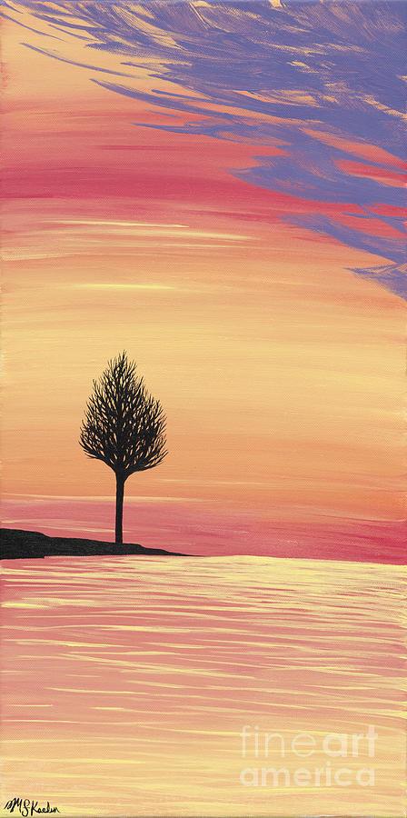 Sweet Painting - Sweet Raspberry Sunset by Melissa F Kaelin