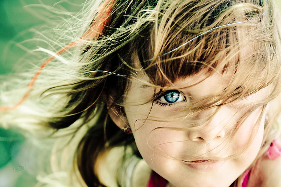Beautiful Child Digital Art - Sweet Ruby by Kaye Adams