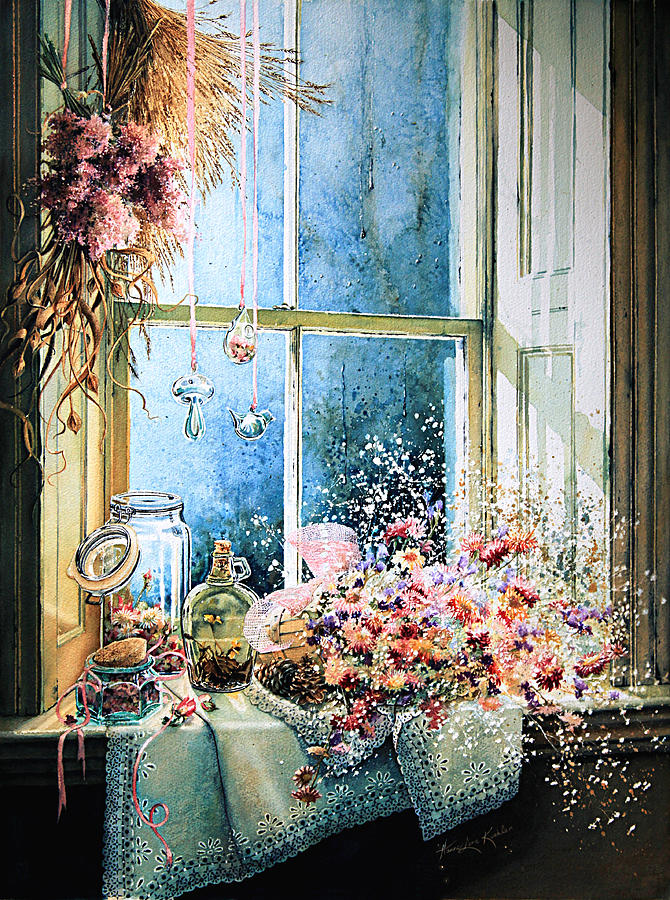 Window Painting - Sweet Scents To Savor by Hanne Lore Koehler