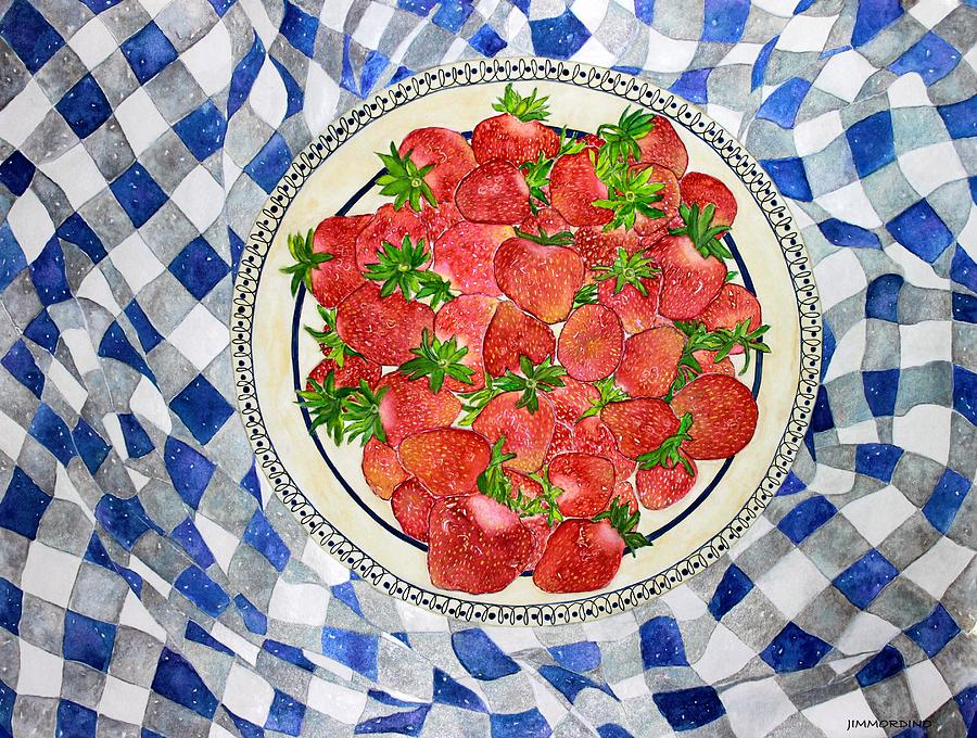 Strawberry Painting - Sweet Strawberries by Janet Immordino