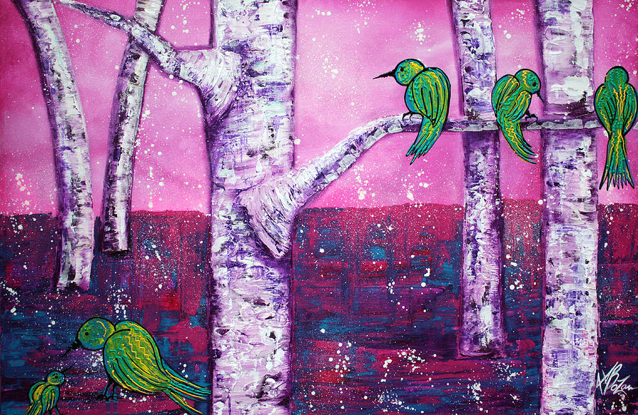 Fantasy Painting - Sweet Tweet by Laura Barbosa