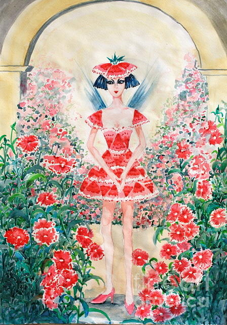 All Painting - Sweet William Fairy by Phong Trinh