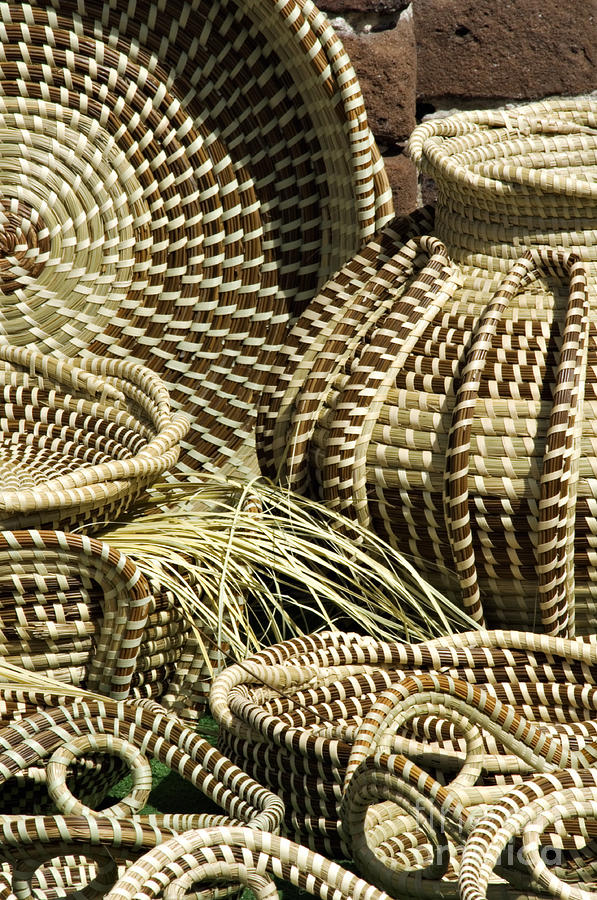Example Photograph - Sweetgrass Baskets - D002362 by Daniel Dempster