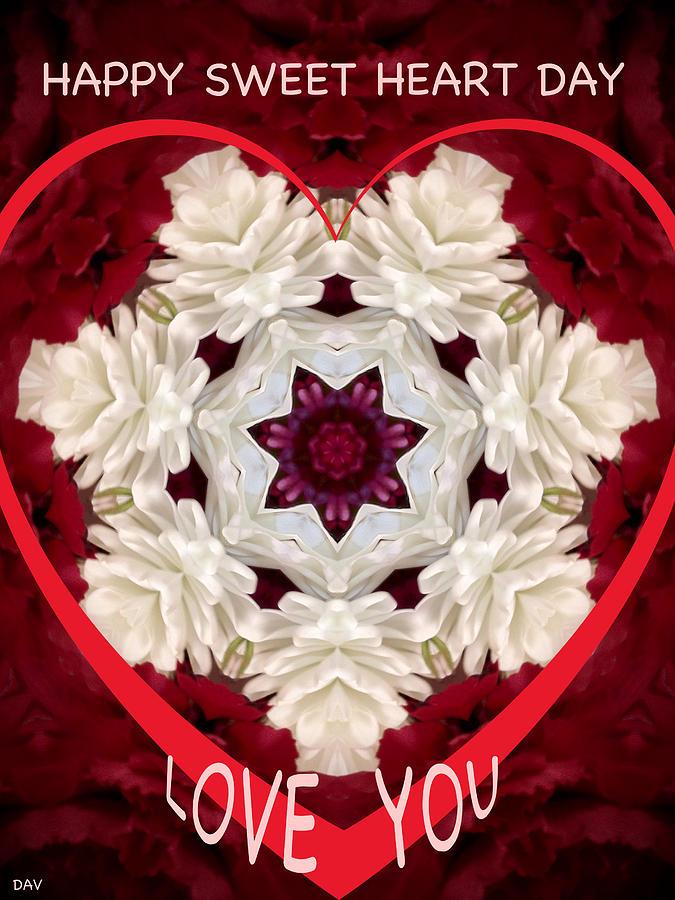 To My Valentine Mixed Media - Sweetheart Card by Debra     Vatalaro