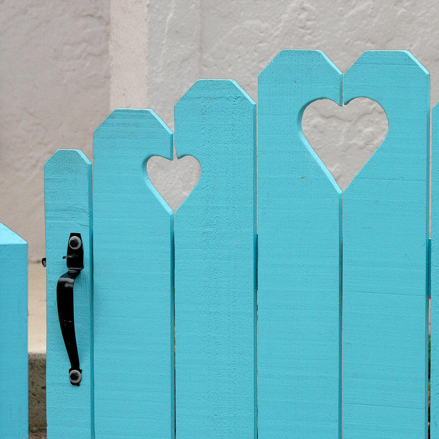 Hearts Photograph - Sweetheart Gate by Art Block Collections