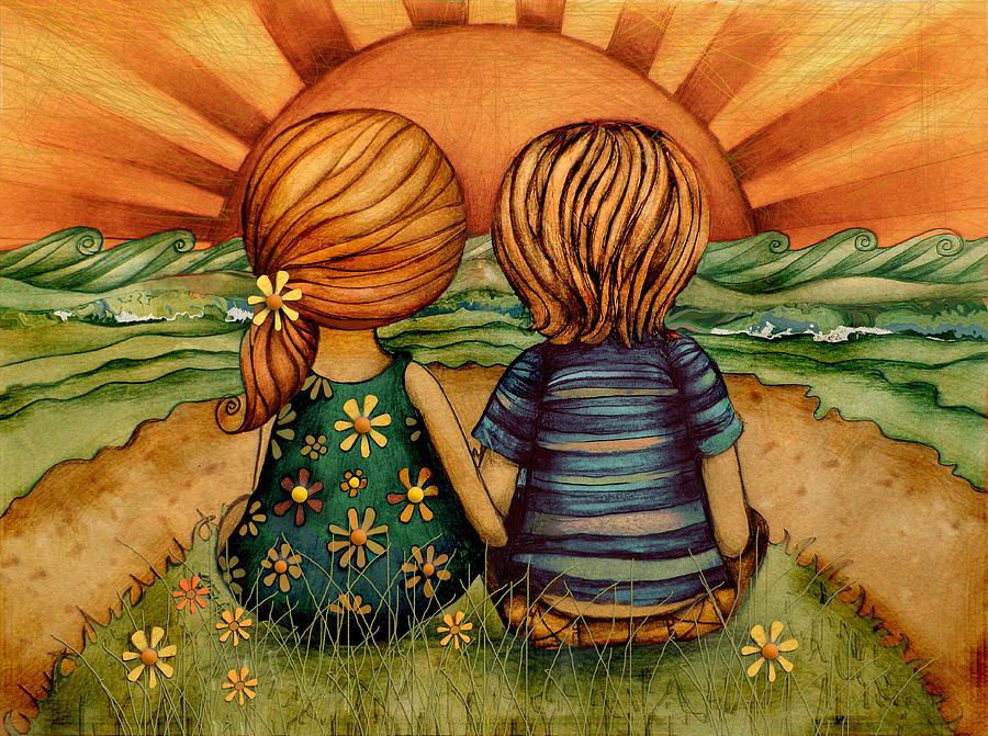 Anniversary Painting - Sweethearts by Karin Taylor